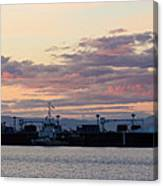 Sunset At Port Angeles Canvas Print