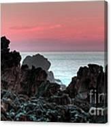 Sunset At Salt Point Canvas Print