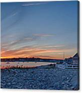 Sunset At Scituate Light Canvas Print