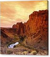 Sunset At Smith Rock Canvas Print