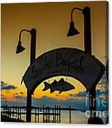 Sunset At Snooks Bayside Canvas Print