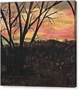 Sunset At Spring City Tenn Canvas Print