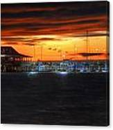 Sunset At The Fairhope Pier Canvas Print