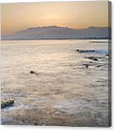 Sunset At The Hot Sea Canvas Print