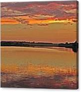 Sunset At The Rostavytsia_1 Canvas Print