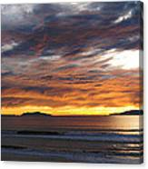 Sunset At The Shores Canvas Print