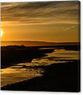 Sunset At Twin Spits Canvas Print