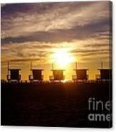 Sunset At Venice Beach Canvas Print