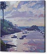 Sunset At Waterlot Canvas Print
