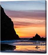 Sunset At Whalehead Beach Canvas Print