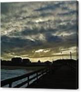 Sunset Avon Pier 1 10/15 Canvas Print