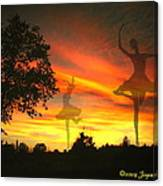 Sunset Ballerina Canvas Print