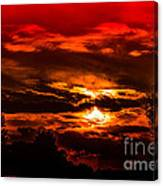 Sunset Before The Storm Canvas Print