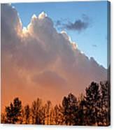 Sunset Between Storm Cells Canvas Print