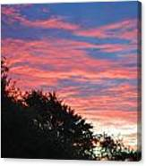 Sunset Bicolor Canvas Print