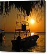 Sunset Boats Canvas Print