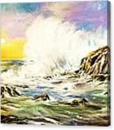 Sunset Breakers Canvas Print