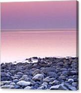 Sunset By The Ocean Canvas Print