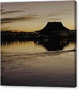 Sunset Canoe Canvas Print