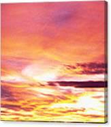 Sunset, Canyon De Chelly, Arizona, Usa Canvas Print