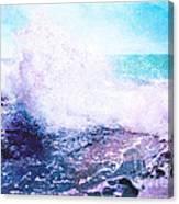 Sunset Cliff Wave Canvas Print