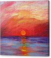 Sunset Delaware Bay Canvas Print