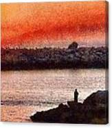 Sunset Dinner Canvas Print