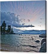 Sunset Drama At Tahoe Canvas Print