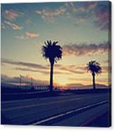 Sunset Drive Canvas Print