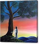 Sunset Fairy By Shawna Erback Canvas Print