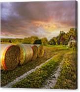 Sunset Farm Canvas Print