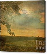 Sunset Farmland Canvas Print