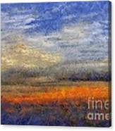 Sunset Field Canvas Print