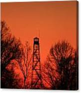 Sunset Fire Tower In Oconee County Canvas Print