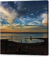 Sunset Fishing  Hot Dogggg Canvas Print