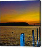 Sunset From Andersons Dock Canvas Print