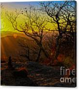 Sunset From Blood Mountain Canvas Print