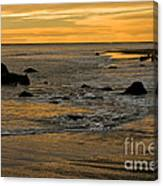 Sunset From Damon Point Canvas Print