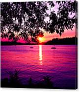 Sunset From Point Fosdick Gig Harbor Washington Canvas Print