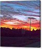 Sunset From Tellico Plains Canvas Print