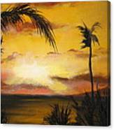 Sunset from the balconey Canvas Print