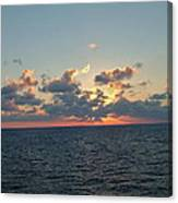 Sunset From The Carnival Triumph Canvas Print