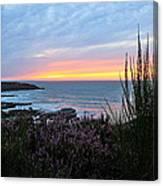 Sunset Garden View Canvas Print