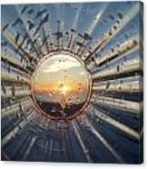 Adelaide Beach Sunset Glass Canvas Print