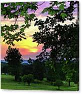 Sunset Golf Course Canvas Print