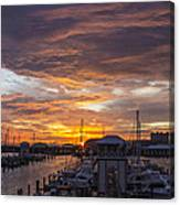 Sunset Harbor Canvas Print