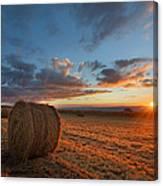 Sunset Hay Canvas Print