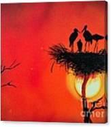 Sunset Home Canvas Print
