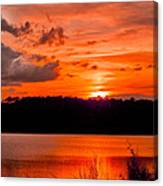 Sunset Huntington Beach State Park Canvas Print