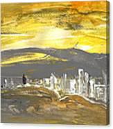 Sunset In Benidorm Canvas Print